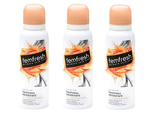 Femfresh 125ml Feminine Freshness Deodorant Spray x Pack of 3