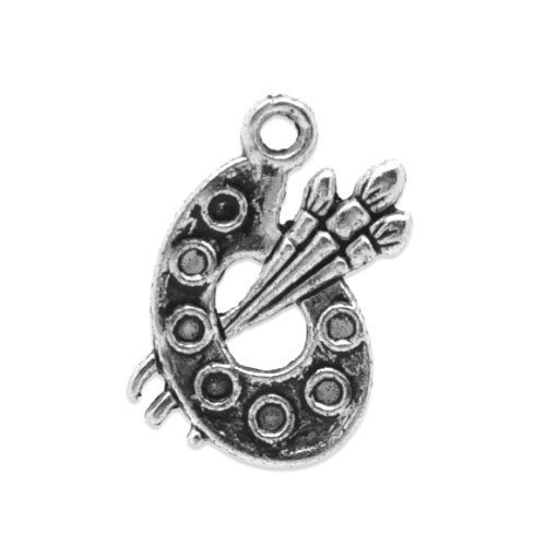 pacco-10-x-argento-antico-tibetano-17mm-ciondoli-pendente-tavolozza-pittura-zx04110-charming-beads