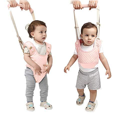Clini redini primi passi camminare assistente per bambino, 2-in-1 redinelle di sicurezza per 7-24 mesi, baby walker toddler, rosa