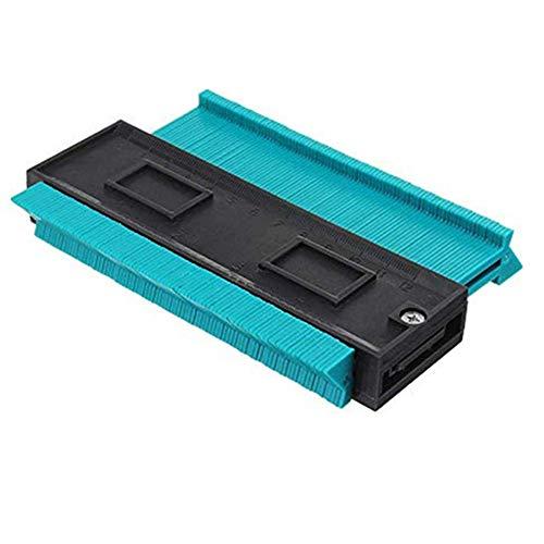 Komise 4-Zoll- / 120-Mm-Kunststoff-Konturkopie-Kopiergerät für Rundprofilprofil (146×105×26mm, Blau)