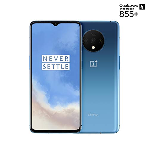 OnePlus 7T Smartphone Glacier Blue | 6.55'/16,6 cm AMOLED Display 90Hz Power Screen | 8 GB RAM + 128 GB Storage | Triple Camera + Front-Camera | Warp Charge 30