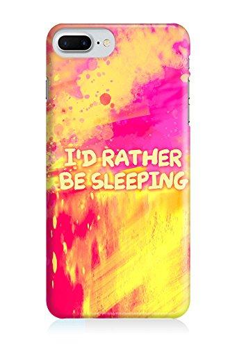COVER Statement Spruch Quote Sleeping schlafen pink gelb neon Design Handy Hülle Case 3D-Druck Top-Qualität kratzfest Apple iPhone 8
