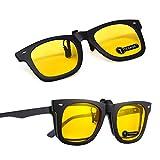 TERAISE 2 PZ Clip su Flip up Lente polarizzata per Occhiali da Vista Visione Notturna Clip su Occhiali da Sole per Uomo e Donna con Astuccio per Occhiali Occhiali antiriflesso per Ciclismo Sport