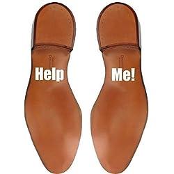 """Divertido adhesivo """"Help Me!"""" para los zapatos del novio"""