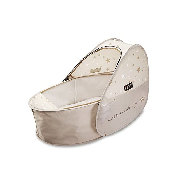 Koo-di 80 x 50 x 58 cm Sun and Sleep Pop Up Travel Bassinette  A comfortable bassinette ideal for use at home and on holidays or weekends away A polycotton travel bassinette Ideal up to 6 months or until baby can sit unaided 2
