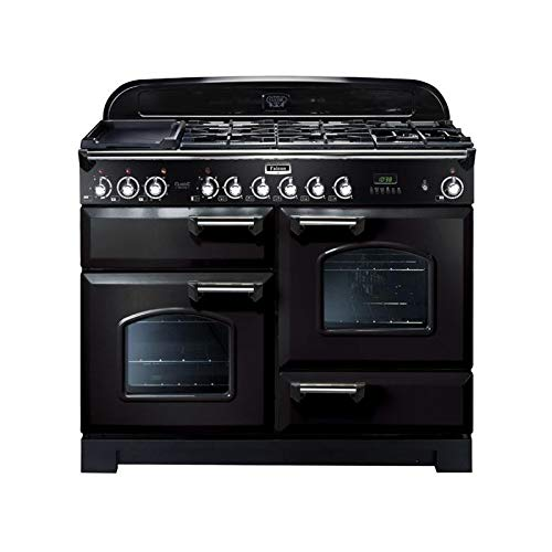 Falcon CDL110DFBLC - Falcon Classic Deluxe 110 Mixte - CDL110DFBLC - Cuisinière (four à deux étages) - pose libre - 110 cm - noir finition chrom
