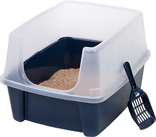 Iris Oben offen Katzentoilette Box-Kit mit Schild und Schaufel