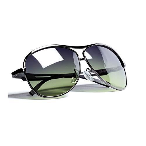 Polarisierte Herren-Sonnenbrille Driver Driving Frog Mirror Driving Spezielle Angelbrillen HD Polarisierte Mode Und Funktion Mit Doppeltem Verwendungszweck Für Tag Und Nacht ( Farbe : Gun frame )