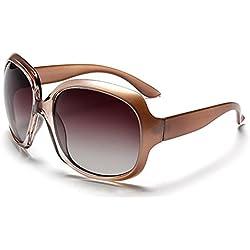 BLDEN Mujer Grande Gafas De Sol moda polarizadas gafas UV400 Protección Para Conducción GL3113-CHAMPAGNE