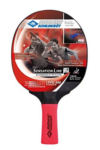 Donic-Schildkröt Tischtennisschläger Sensation Line 600, ASG-Griff, 1,6 mm Schwamm, Prestige - ITTF Belag, 724402 -