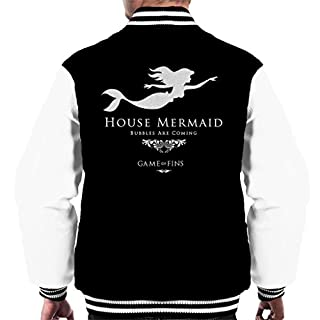 House Mermaid Bubbles Are Coming Game Of Thrones Men's Varsity Jacket