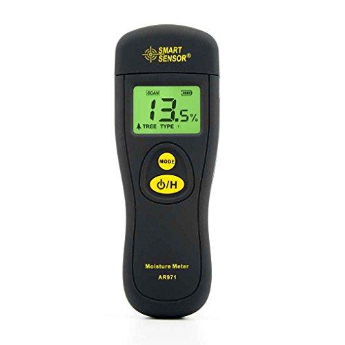 Probador de la madera Contenido de humedad de SMART SENSOR AR971 instrumento higrómetro analizador digital de madera Medidor de Humedad