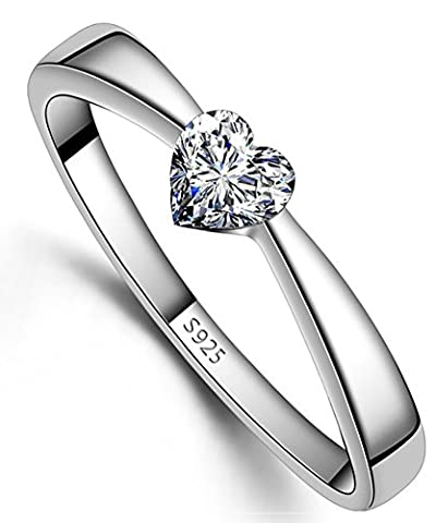 SaySure - Ring 925 Sterling Silver Material Austria Crystal (SIZE : 7.5)