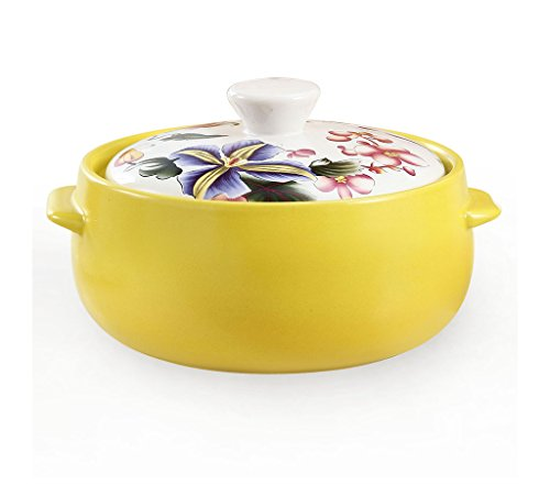 Pots Casserole Stew Pot Ceramic Fire High Temperature Korean Ceramic Casserole Claypot Soup Pot Porridge Pot Cooking Stone Pot Casserole dishes ( Color : 1 )