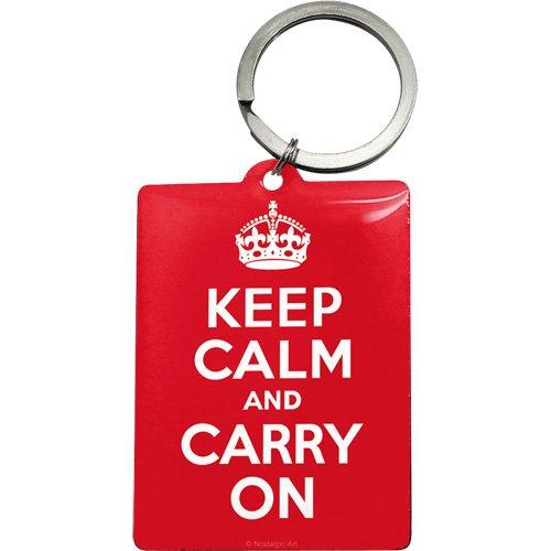 Preisvergleich Produktbild Nostalgic-Art 47020 United Kingdom - Keep Calm and Carry On, Schlüsselanhänger 6x4,5 cm