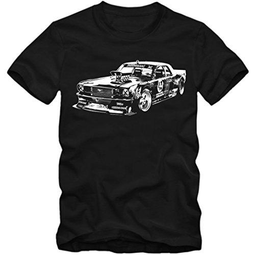 Mustang Hoonigan T-Shirt | Gymkhana | Hoonicorn | Ken Block | Kindershirt | Jungen | Mädchen, Farbe:Schwarz (Deep Black L190k);Größe:12 Jahre (142-152 cm) (Ford-kinder-t-shirt)