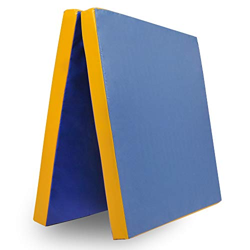 Klappbare Weichbodenmatte RG 35 | BLAU - GELB | 200 x 100 x 8 cm