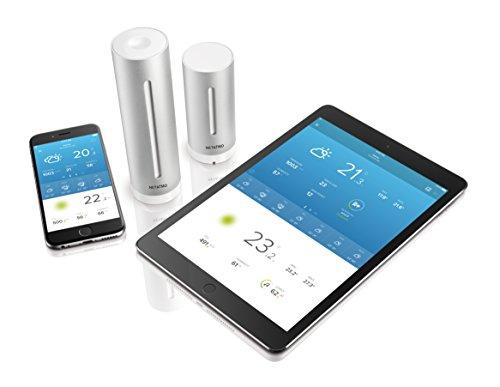 41%2BtfJe7IRL [Bon Plan Netatmo] Netatmo Station Météo Intérieur Extérieur Connectée Wifi pour Smartphone - Capteur Sans fil - Thermomètre, Hygromètre, Baromètre, Sonomètre, Qualité de l'air - Compatible avec Amazon Alexa