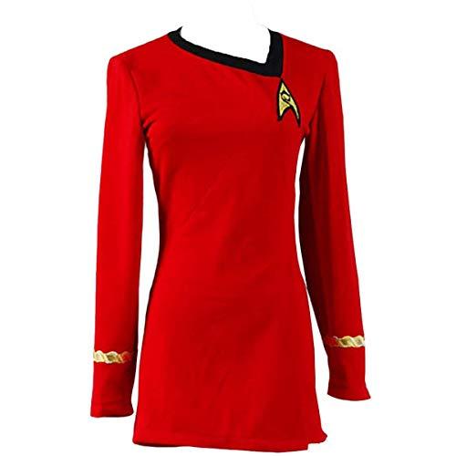 DingChen Uniform Kleid TOS Kostüm Rot Damen