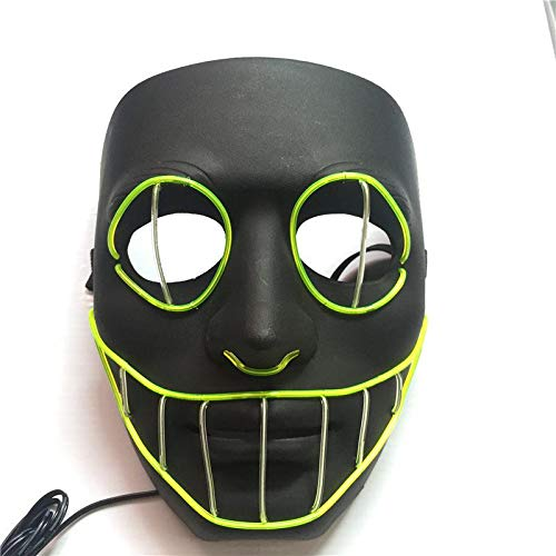 Fdit Halloween Interessante LED Light up Maske EL Purge für Festival Cosplay - Light Up Maske