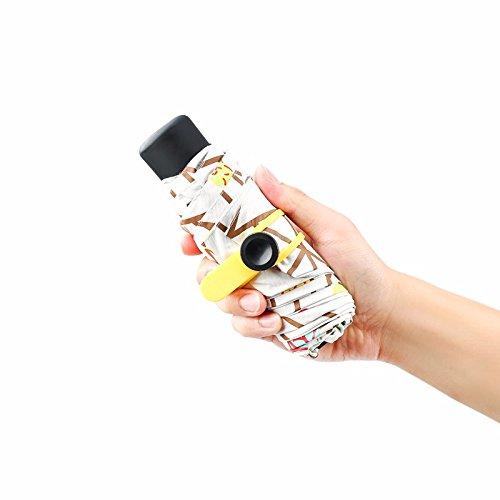 KHSKX Mini luce ultra ombrelloni ombrellone filtro solare UV 50 percento femmina vinile ombrello Ombrello ombrello tascabile,ombrello tascabile - Valvola In Fibra Di Carbonio