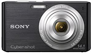 Sony Cyber-shot DSC-W610 14.1MP Point and Shoot Camera (Black) with 4x Optical Zoom, 4GB Card and Camera Case
