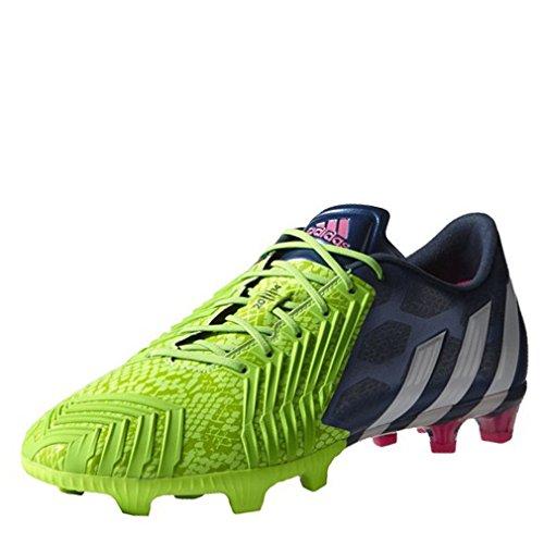 adidas Fußballschuhe Predator Instinct FG Herren Rich Blue-White-Solar Green (M17644), 40 2/3, Gruen