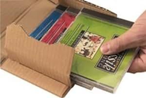 Smartbox Easy-Pack 51 Boîte d'expédition en carton pour CD 14.7X12.9X5.5cm Brun Lot de 25