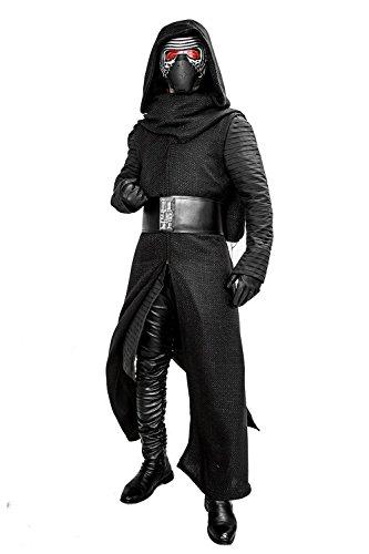 Darth Ohne Kostüm Helm Vader - Xcoser Kylo Kostüm Schwarzes Fancy Suit Cosplay Villain Deluxe Erwachsenes Halloween Herren Kleidung ohne Maske