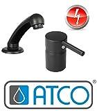 ATCO NINO ND schwarz COIFFEUR Friseur Wasserhahn Waschbecken Armatur Friseurarmatur
