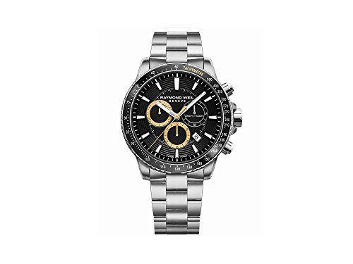 Reloj de Cuarzo Raymond Weil Tango, Negro, 43 mm, Cronógrafo, 8570-ST1-20701