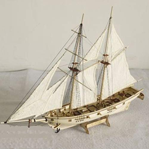 KKmoon DIY Ship Assembly Model Kits Wooden Sailing Boat Scale Model Decoration Toys Gifts for Kids Adults