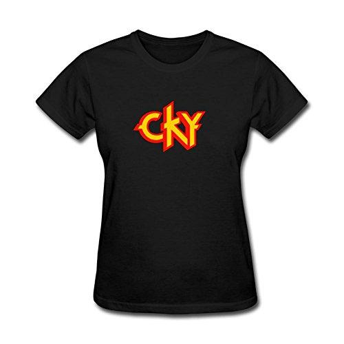 Xiuluan CKY de la mujer banda Logo alternativa Metal camiseta de manga corta