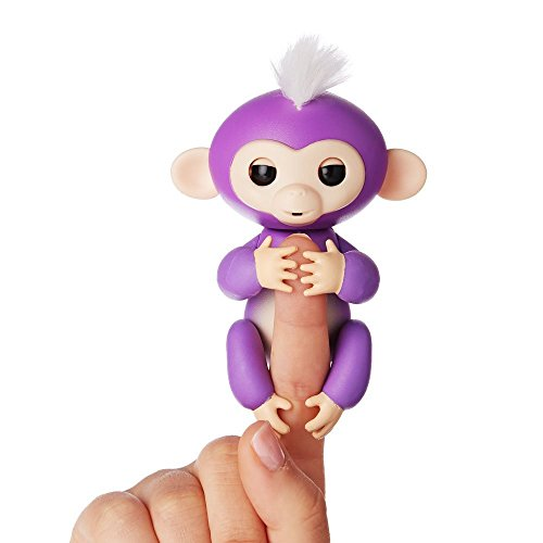 Fingerlings ouistiti violet bébé singe interactif de 13cm 0689239922507