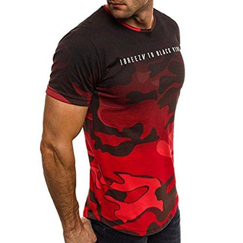 newest 0fd41 20483 Modaworld Uomo Top Moda Slim Fit Magliette Uomo T-Shirt Camouflage Manica  Corta Casual Bluse Sportivo Sweatshirt Primavera