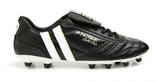 Fußballschuhe Patrick (Patrick Fussballschuh Goldcup-13, Gr. 40 (UK 6.5/US 7/CM 26.5), schwarz/weiss, Nocken, Känguruleder)