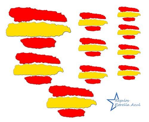 REGALOS ESTRELLA AZUL Pegatinas Banderas España