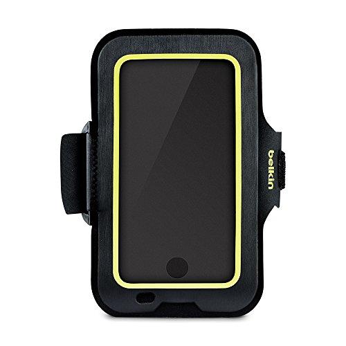 Belkin Sport-Fit Fitness-Armband für iPhone8, iPhone7, iPhone 6/6s (Smartphone frei zugänglich, geeignet für Hüllen, verstellbare Größe) schwarz
