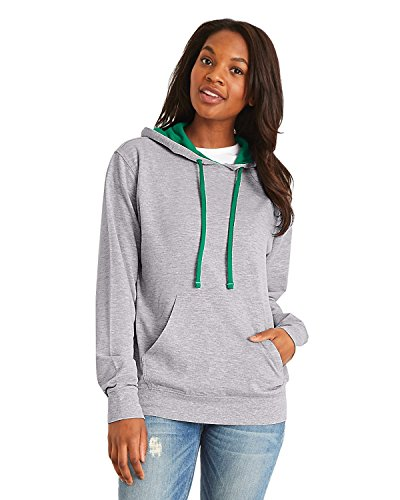 Next Level Womens French Terry Pullover Hoodie (9301) -Hthr Gry/K -3XL Ladies French Terry Hoodie