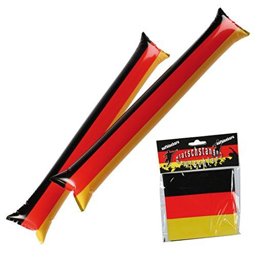 Preis am Stiel 2 x Aufblasbare Klatschstangen - Deutschlandflagge | Nationalflagge | Fanartikel | Weltmeisterschaft | Fan Zubehör | Public Viewing | Fußball WM | Geschenk für Frauen & Männer