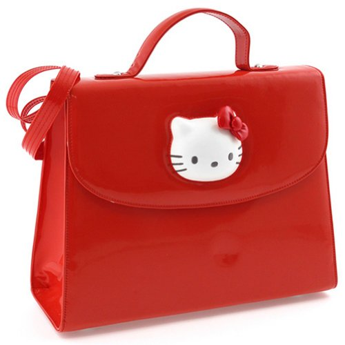 Sac à main Hello Kitty Glossy rouge By Camomilla