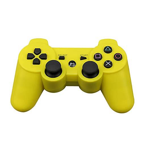 CLLRM EnkEU Kabelloser Controller für PS3-Spiele, Vibration mit Zwei Festplatten, Bluetooth-Verbindung, 10 m, kompatibel mit PS3, PS4, Android, iOS, Win, PC, 10 Farben
