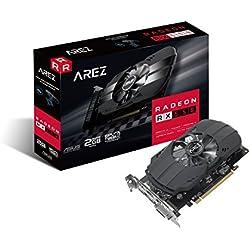 ASUS Carte Graphique AREZ-PH-RX550-2G (AMD Radeon RX 550, 2Go Mémoire GDDR5)