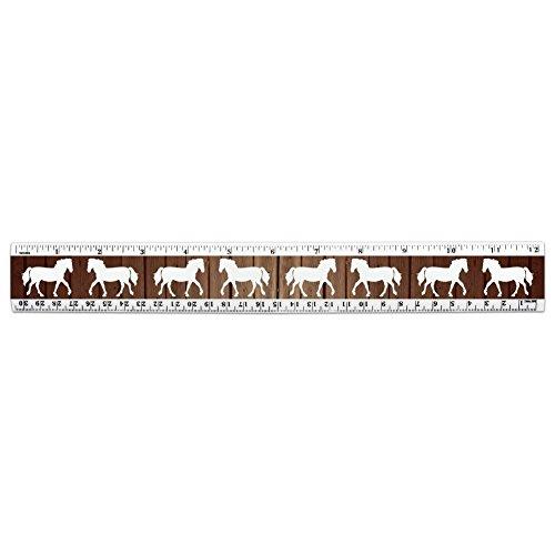 Horse Silhouette Cowboy Western-Lineal 30,5 cm Standard und metrisch Kunststoff