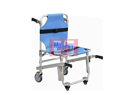 Stuhl Rettungs-faltbar mit Rollen und Sitz blau 191–015B 191-mayday