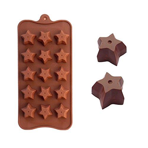 'F & H clest DIY 15Löcher Sterne Form Silikon Schokolade Kuchen Formen Backen Werkzeuge
