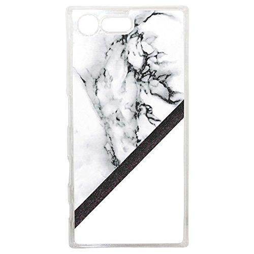 Lapinette Coque Rigide Graphique Marbre Blanc pour Sony Xperia X Compact