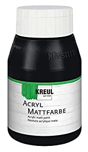 KREUL 75920 - Acrílico Color Mate, 500 ml Botella, Negro