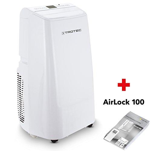 TROTEC Lokales mobiles Klimagerät Klimaanlage PAC 3500 E mit 3,5 kW / 12.000 Btu Inkl. Fensterabdichtung AirLock 100