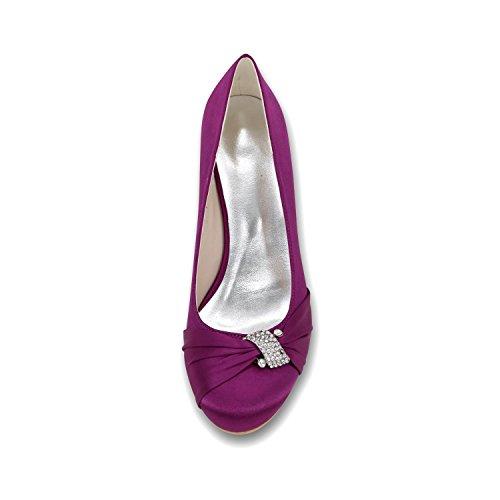 L@YC Scarpe Da Sposa In Cuneo Femminile 9140-22 Scarpe Multicolore Di Balletto Con Tacco alto Champagne